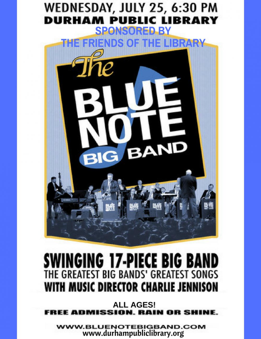 Durham Public Library Music on the Lawn - Blue Note Big Band | The