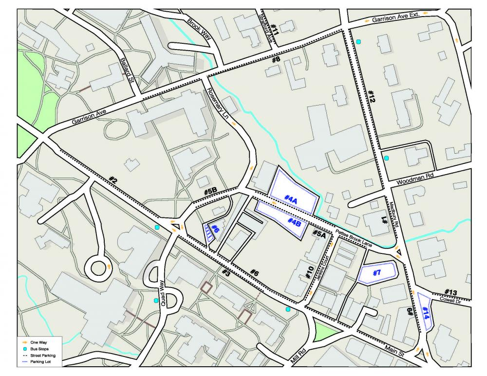 Downtown Parking Map | The Town of Durham New Hampshire on