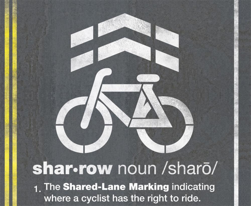 "What are those markings on the street (""sharrows"")? 